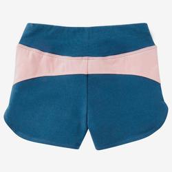Short baby gym 500 Bleu petrol/Rose