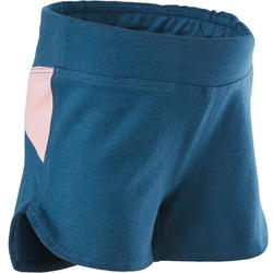 Short baby gym 500 Bleu petrol/Rose