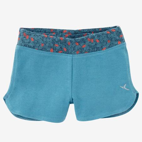 Celana Pendek Senam Bayi 500 - Turquoise/Coral