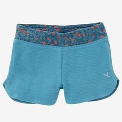Shorts kurz 500 Babyturnen türkis/koralle