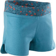 Baby Gym Shorts 500 - Turquoise/Coral