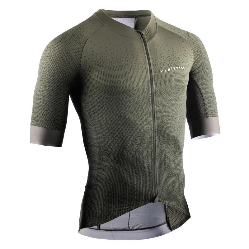 Men's Road Cycling Jersey Endurance Racer - Khaki
