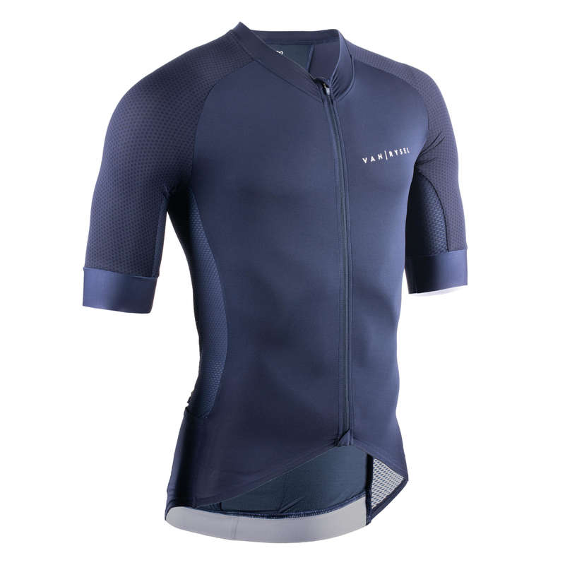 MEN WARM WEATHER ROAD RACING APPAREL Cycling - Jersey Racer - Blue VAN RYSEL - Cycling