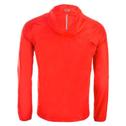 Windjack voor atletiek heren club personaliseerbaar rood