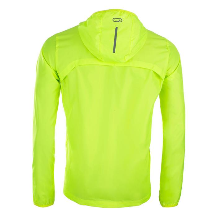Windjack voor atletiek heren club personaliseerbaar geel