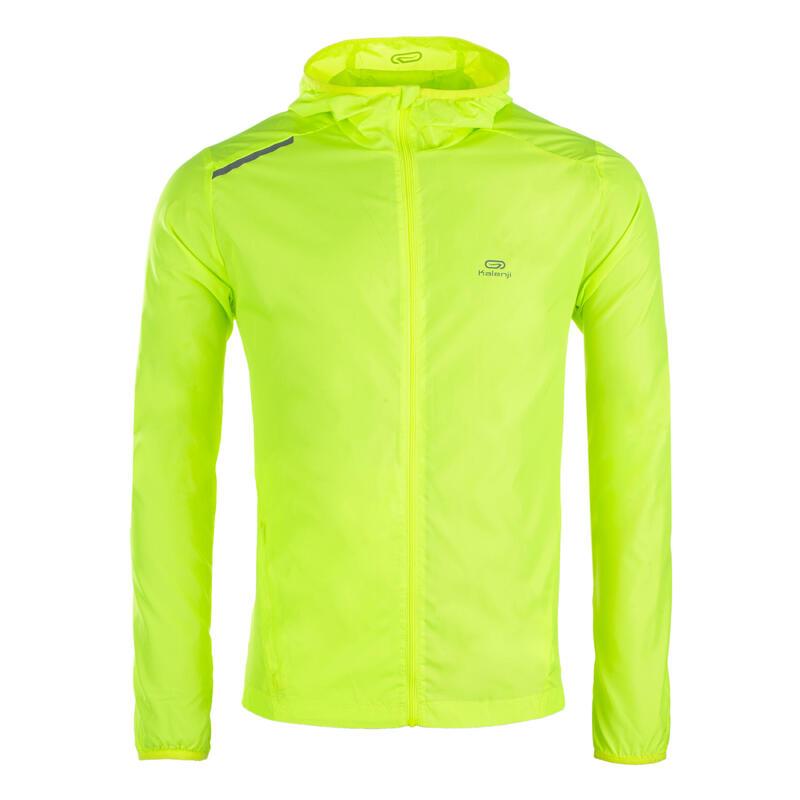 Corta-Vento de Atletismo em Clube Personalizável Homem Amarelo Neon