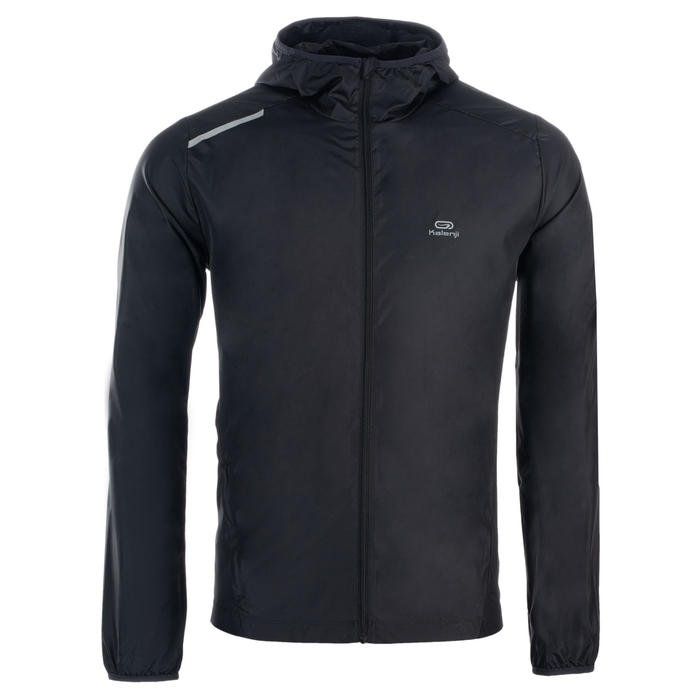 Windjack voor atletiek heren club personaliseerbaar zwart