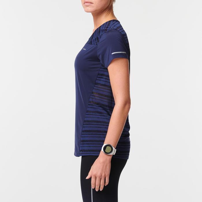 Ademend hardloopshirt voor dames Kiprun Light blauw