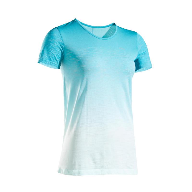 เสื้อยืดผู้หญิงระบายอากาศได้ดีสำหรับใส่วิ่งรุ่น KIPRUN CARE (สีเขียว)