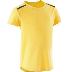 T-shirt voor kleutergym 500 geel