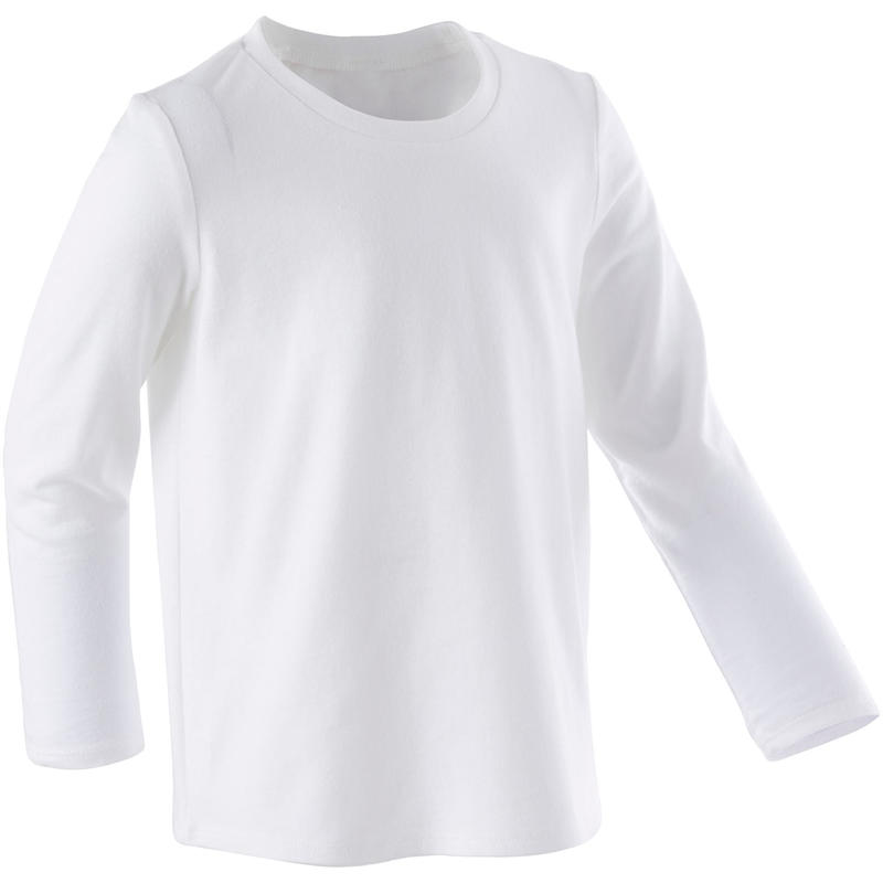 Kids' Baby Gym Long-Sleeved T-Shirt - White