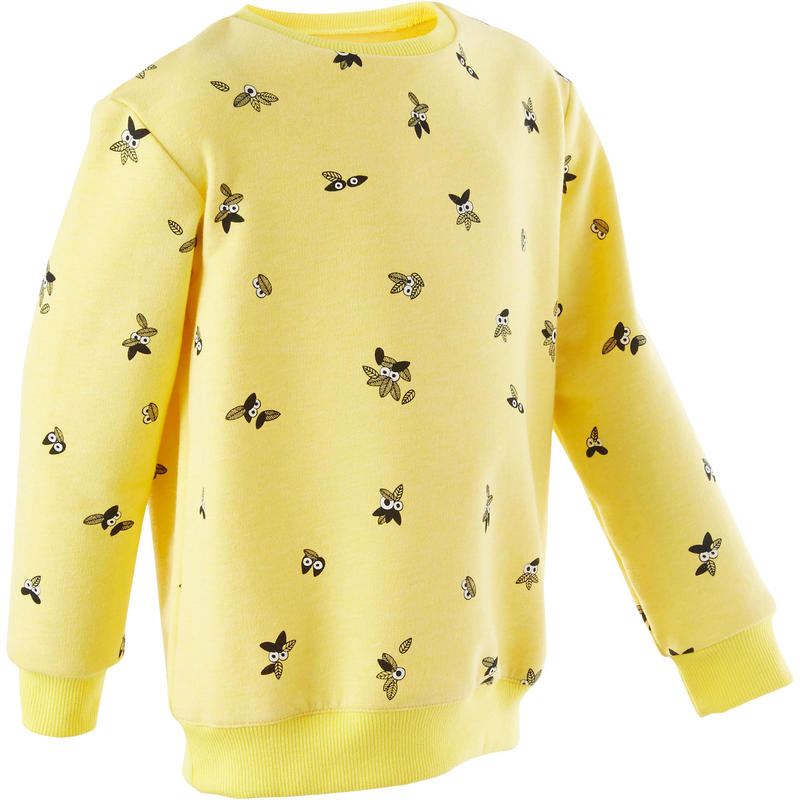 Girls' and Boys' Baby Gym Sweatshirt 100 - Yellow