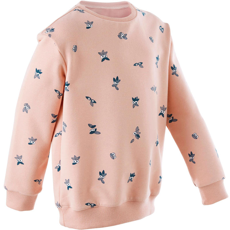 Kindersweater peuter- en kleutergym Decat'oons roze met print