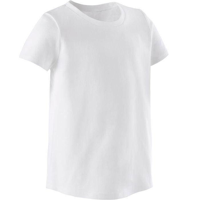 T-shirt 100 Baby Gym fille et garçon Blanc