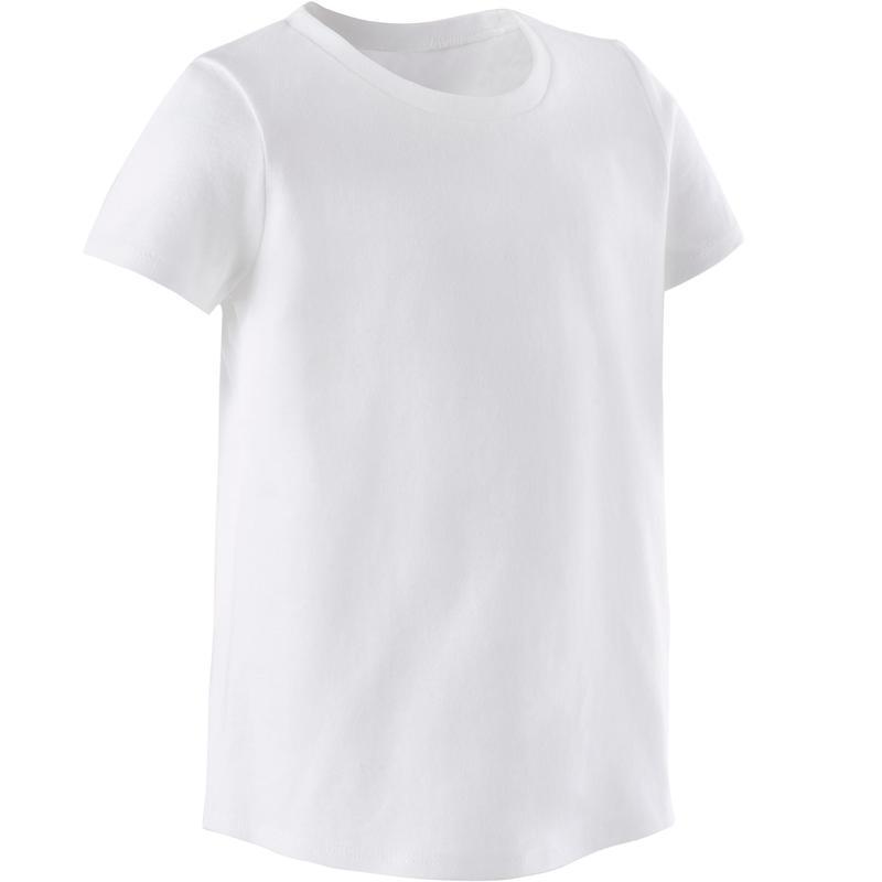 Basic T-shirt voor kleutergym wit