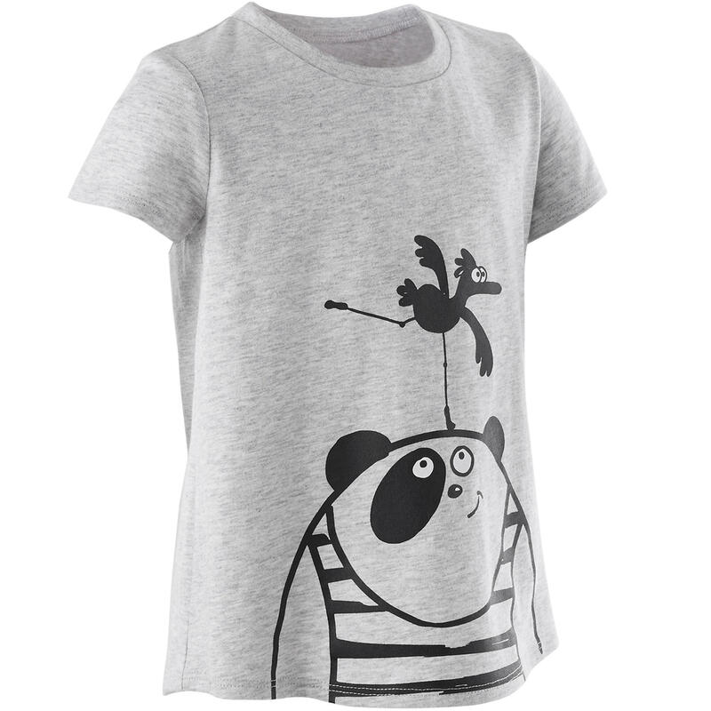 Basic T-shirt voor kleutergym grijs