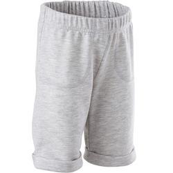 Shorts kurz 500 Babyturnen grau