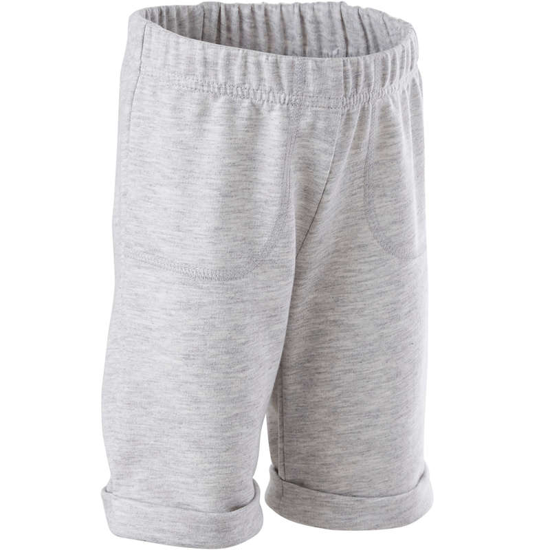 BABY GYM APPAREL Baby and Toddlers - Shorts 500 - Grey DOMYOS - Kids