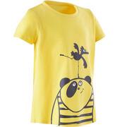 Baby Gym T-Shirt Sportee 100 - Yellow