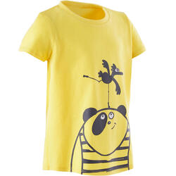 Girls' and Boys' Baby Gym T-Shirt 100 - Yellow