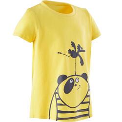 T-shirt de Ginástica para Bebés Menina e Rapaz 100 Amarelo