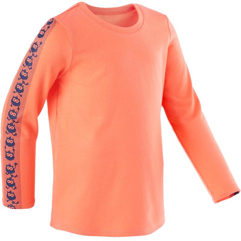 Dětské tričko 100 s dlouhým rukávem na cvičení oranžové
