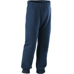 Joggingbroek voor kleutergym 100 marineblauw