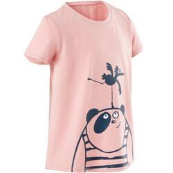 T-shirt de Ginástica para Bebés Básica Criança Rosa