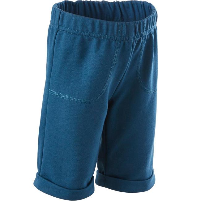 Baby Gym Shorts 500 - Petrol Blue