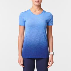 Camiseta Manga Corta Running Kiprun Care Transpirable Mujer Azul