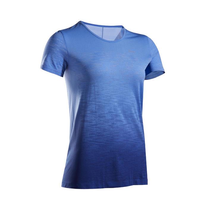 女款透氣跑步T恤KIPRUN CARE - 藍色