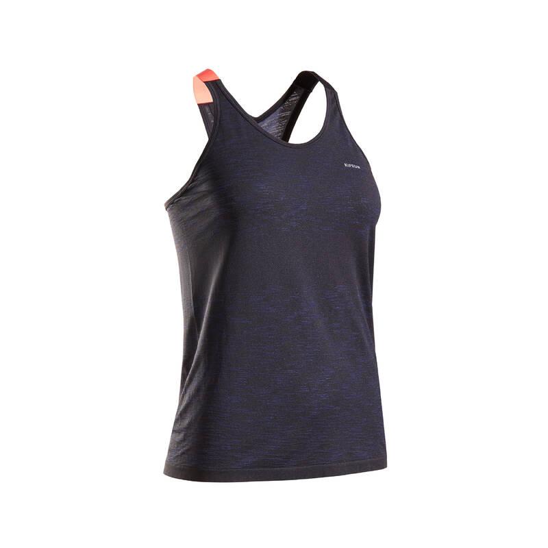 DÁMSKÉ BĚŽECKÉ OBLEČENÍ NA BĚH PO SILNICI Běh - TÍLKO KIPRUN CARE ČERNÉ  KIPRUN - Běžecké oblečení
