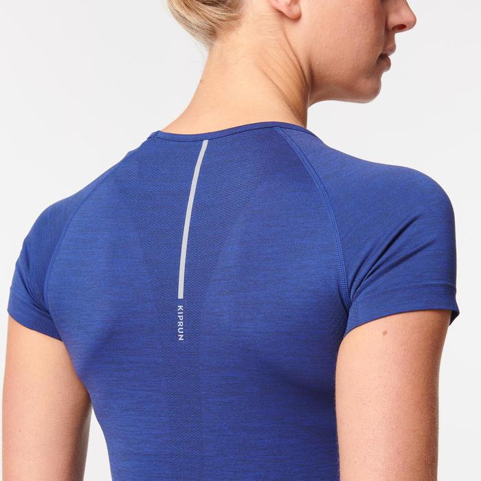 女款透氣跑步T恤SKINCARE KIPRUN - 藍色
