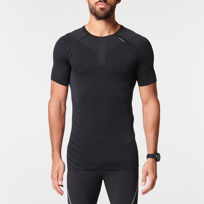男款透氣跑步T恤KIPRUN SKINCARE - 黑色