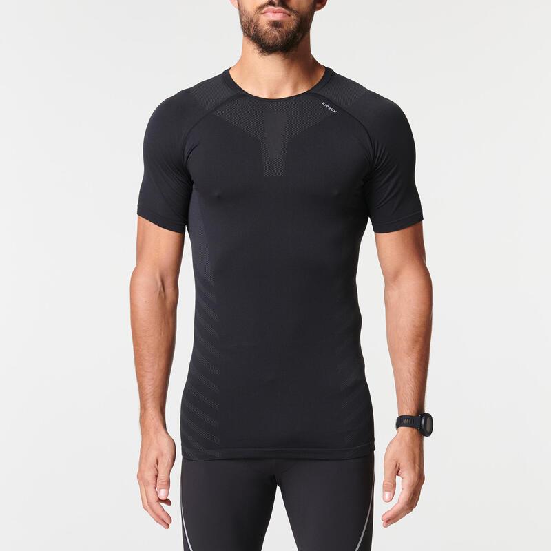 Ademend hardloop T-shirt voor heren Skincare zwart