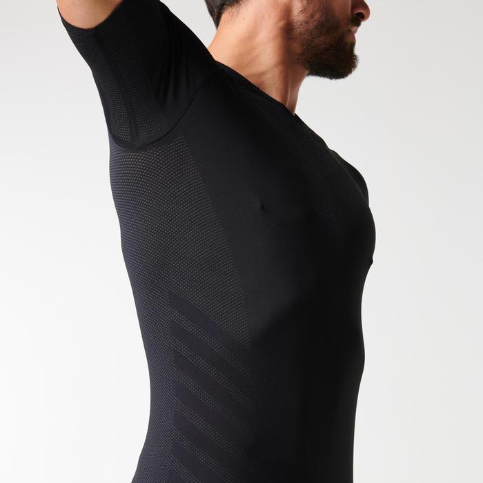 Ademend hardloopshirt voor heren Kiprun Skincare zwart