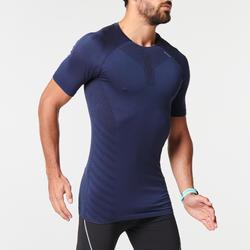 男款透氣跑步T恤KIPRUN SKINCARE - 藍色