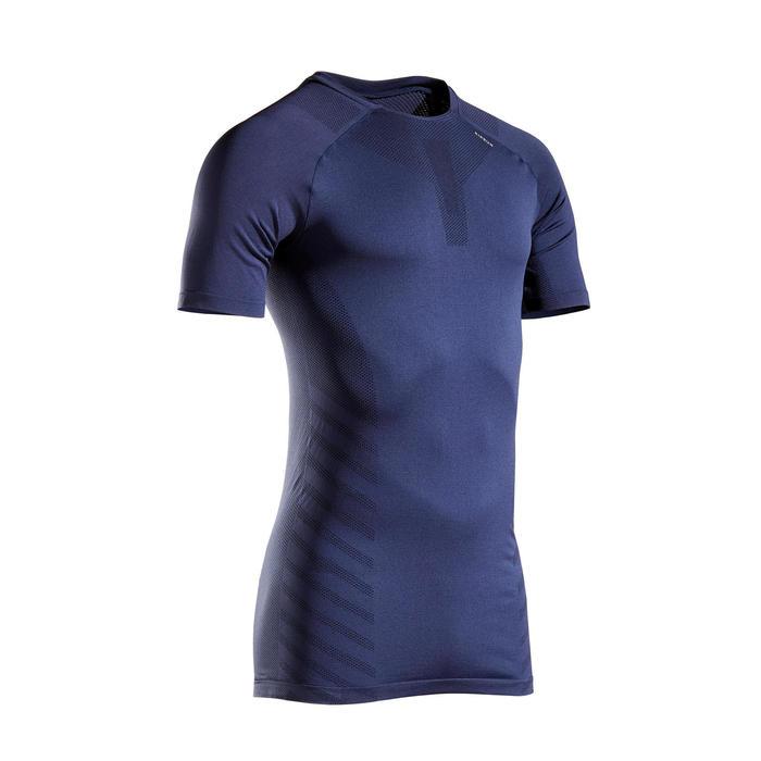 Ademend hardloopshirt voor heren Kiprun Skincare blauw
