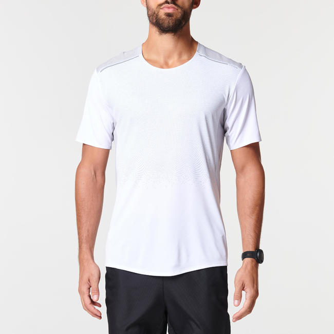 KIPRUN MEN'S RUNNING BREATHABLE T-SHIRT LIGHT - GREY