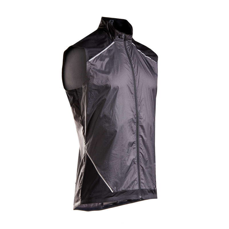 MAN RAINY/WINDY WEATHER RUNNING CLOTHES Clothing - KIPRUN MEN'S SLEEVELESS JACKET KIPRUN - Tops