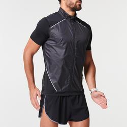 男款跑步無袖外套KIPRUN LIGHT黑色