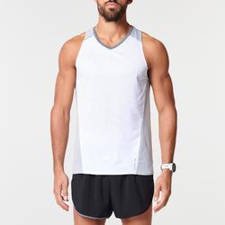 男款透氣輕盈跑步背心KIPRUN LIGHT - 白色