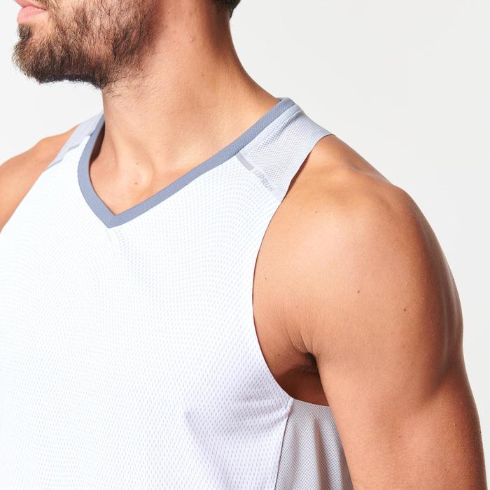 Ademend mouwloos hardloopshirt voor heren Kiprun Light wit