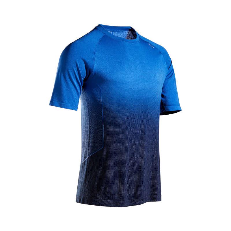PÁNSKÉ BĚŽECKÉ OBLEČENÍ NA BĚH PO SILNICI Běh - BĚŽECKÉ TRIČKO CARE MODRÉ KIPRUN - Běžecké oblečení