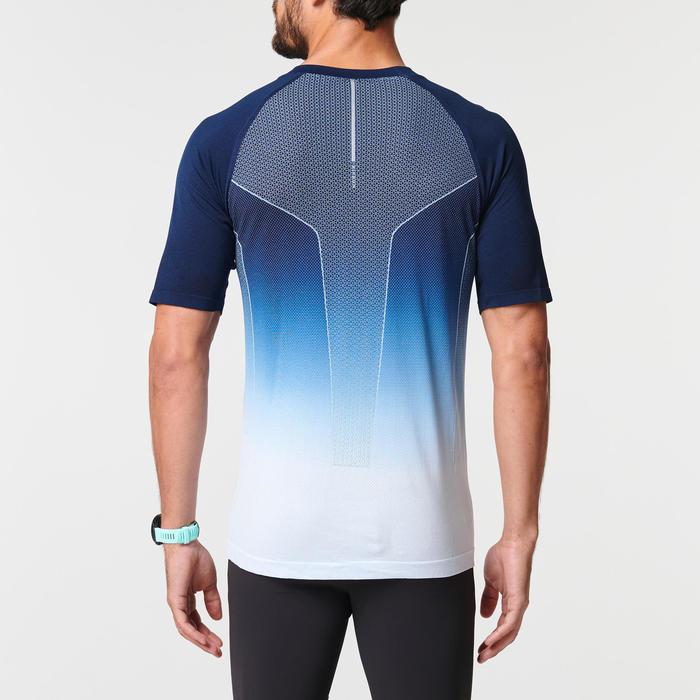 Hardloopshirt voor heren Kiprun Care wit/blauw