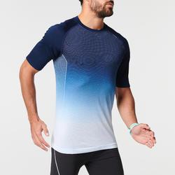 男款跑步T恤KIPRUN CARE - 藍色/白色