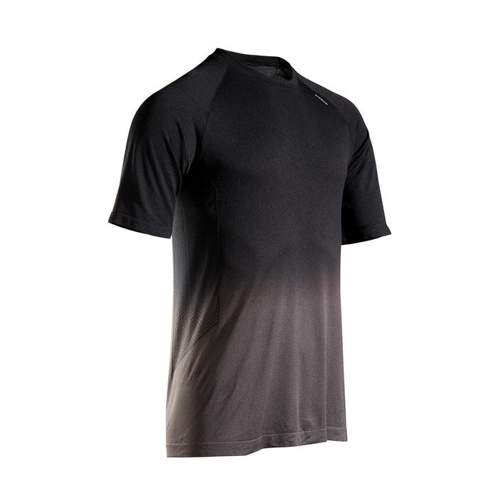 Hardloopshirt voor heren Kiprun Care zwart/grijs