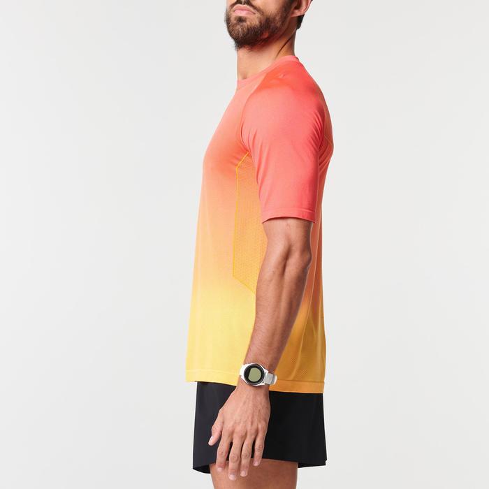 男款跑步T恤KIPRUN CARE - 黃色