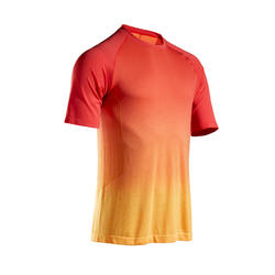 KIPRUN CARE MEN'S RUNNING T-SHIRT - YELLOW