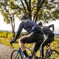 OBLEČENÍ NA SILNIČNÍ CYKLISTIKU JARO A PODZIM Cyklistika - CYKLISTICKÉ KALHOTY 500 ČERNÉ VAN RYSEL - Cyklistické oblečení
